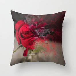 whats a rose Throw Pillow