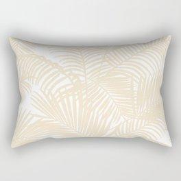 Modern tropical elegant ivory palm tree pattern Rectangular Pillow