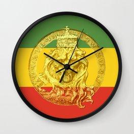 Conquering Lion of Judah Reggae Master Wall Clock