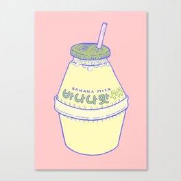 Banana Milk Canvas Print