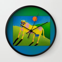 Udderly Abstract 7 - Funny Cow Art Wall Clock