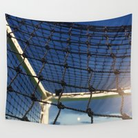 hockey Wall Tapestries featuring Home of Hockey by M.KATZ DESIGNS