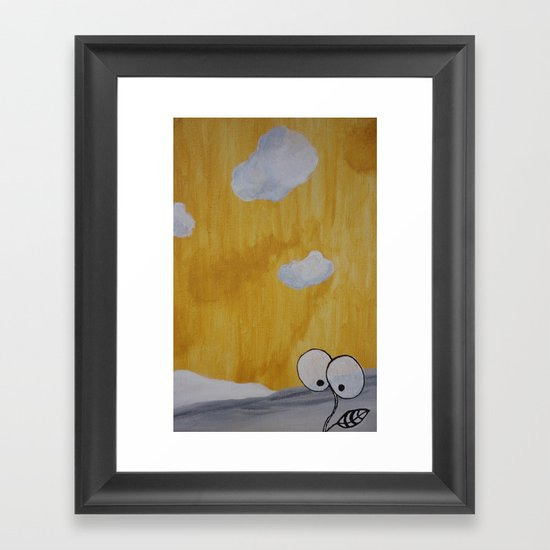 Plant with Yellow Sky Framed Art Print
