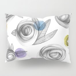 carbon roses and colordots Pillow Sham