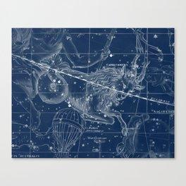 Capricorn sky star map Canvas Print