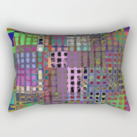 Pastel Playtime - Abstract, geometric, textured, pastel themed artwork Rectangular Pillow