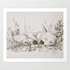 the fairy and the fox Art Print