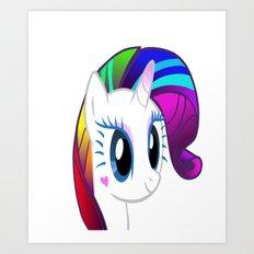 My Rockstar Unicorn Art Print