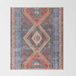 (N16) Boho Moroccan Oriental Artwork for Rustic and Farmhouse Styles. Throw Blanket