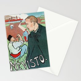 Mévisto in the country French theatre ad Stationery Cards