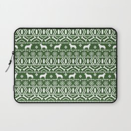 Australian Cattle Dog christmas fair isle pattern pet portrait holiday designs for dog lover Laptop Sleeve