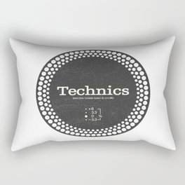Technics - Disc Jockey Rectangular Pillow