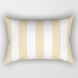 Wheat pink - solid color - white vertical lines pattern Rectangular Pillow
