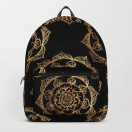 Golden Mandala Pattern Backpack