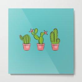 3 cactus garden Metal Print
