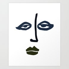 Simple Face Art Print