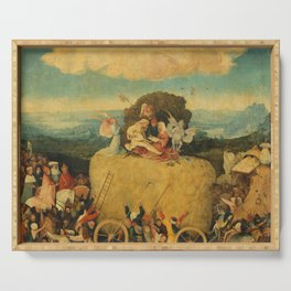 The Haywain Triptych - Hieronymus Bosch Serving Tray