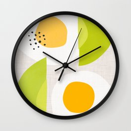Minimalist Avocado and Eggs Wall Clock