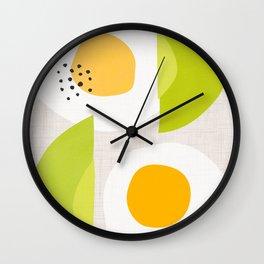 Minimalist Avocado and Eggs Wall Clock