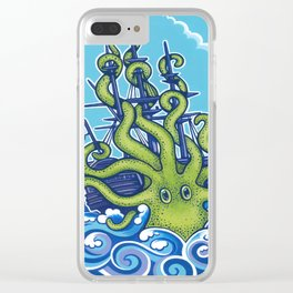 The Kraken Abides Clear iPhone Case