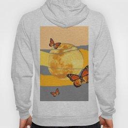 MOON & MONARCH BUTTERFLIES DESERT SKY ABSTRACT ART Hoody