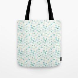 Simple flower pattern(blue) Tote Bag