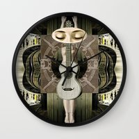 bride Wall Clocks featuring Bride by Ira Carter