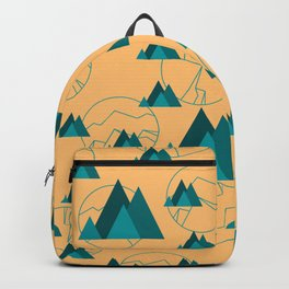 Mountain Outdoor Geometric Shaped Pattern Backpack