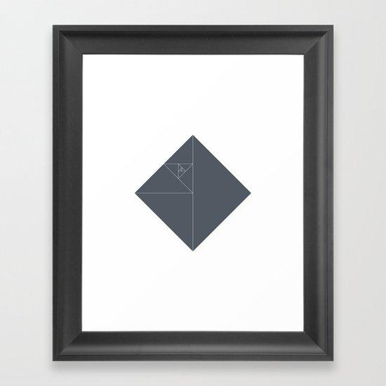 #51 Death star – Geometry Daily Framed Art Print