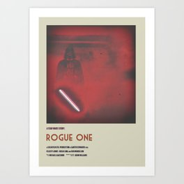 Rogue One Retro Poster I Art Print