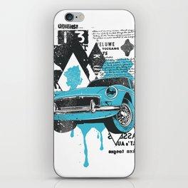 Blue Car iPhone Skin