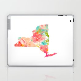 new york map floral state print nyc ny state Laptop & iPad Skin