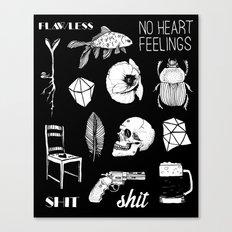 NO HEART FEELINGS Canvas Print