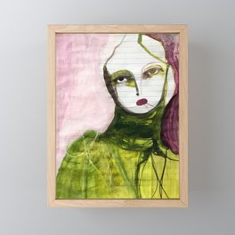 Portrait Lines Framed Mini Art Print