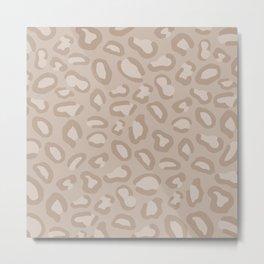 Nude Cheetah Metal Print