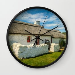 Cottage In Wales Wall Clock