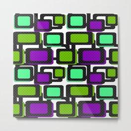 Retro . Abstract geometric pattern 2 Metal Print