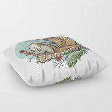 Winter Owl Floor Pillow
