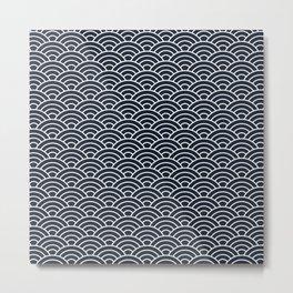 Seigaiha Metal Print