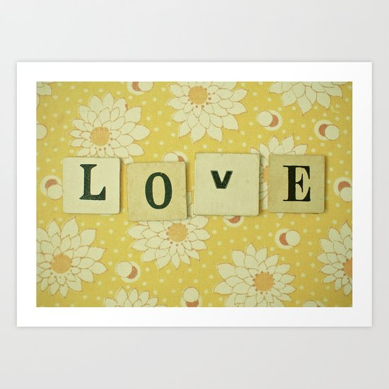 Love No.4 Art Print