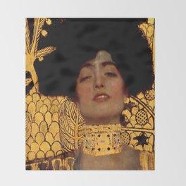 """Gustav Klimt """"Judith I"""", 1901 Throw Blanket"""