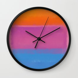 Rothko Interpretation Orange Blue Wall Clock