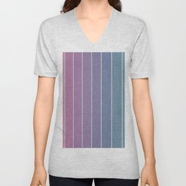 Purple Stripes Unisex V-Neck