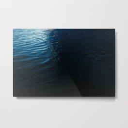 Lake Surface at Dusk Metal Print