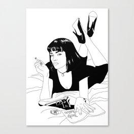 Pulp Fiction - B&W Canvas Print