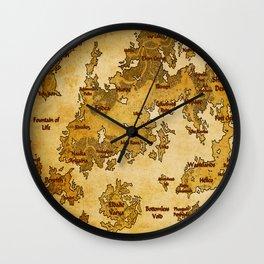 Orn Map Wall Clock