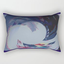 Pixellated Lotus Rectangular Pillow