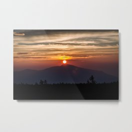 Sunrise in the mountain Metal Print
