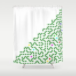 R Experiment 8 (Xmas hydra tree) Shower Curtain