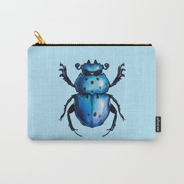 Blue Beetle Cool Insect Art Carry-All Pouch